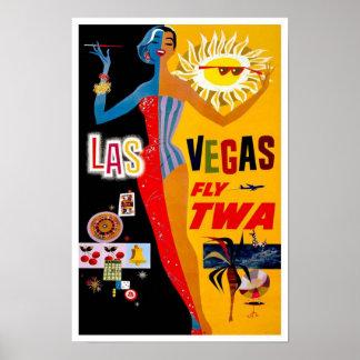 Poster vintage de Vegas