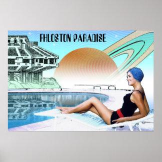 Poster Voyage interplanétaire de ~ de paradis de Fhloston