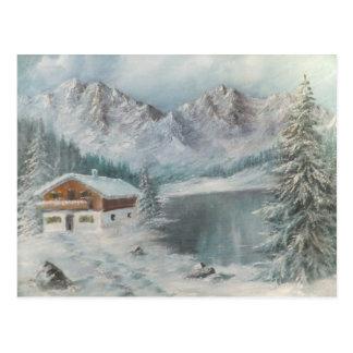 Postkarte Ann Hayes, das bayerischen Schnee-Traum