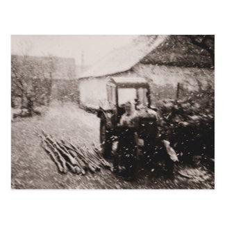 "Postkarte ""April-Schneesturm """