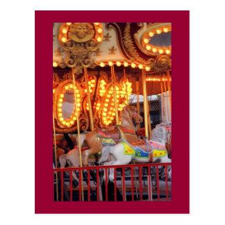 Postkarte Astroland Karussells (Coney Island, NY)