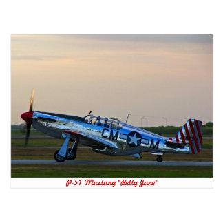 Postkarte Bettys Jane des Mustang-P-51
