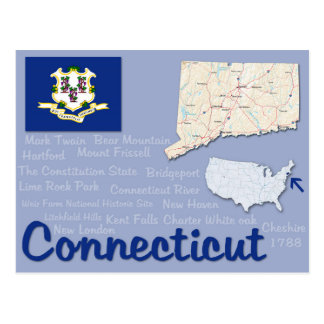 "Postkarte ""Connecticut """