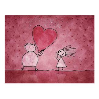 Postkarte, der Tag des Valentines, Liebe, Herz Postkarten