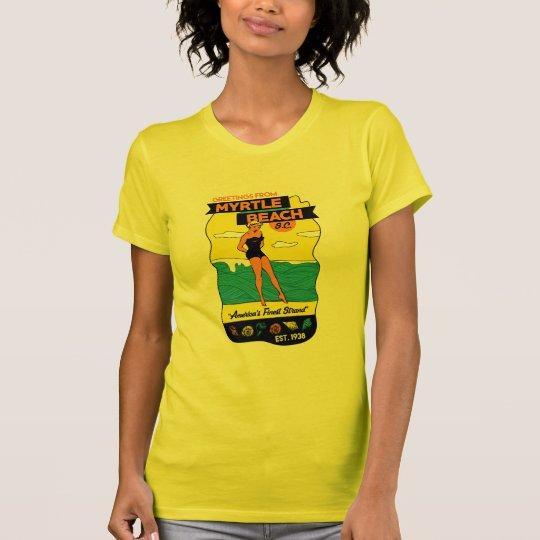 Postkarte des Alt-School-Myrtle Beach T-Shirt