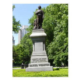 Postkarte des Daniel Webster-Statue-Central