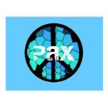 Postkarte des Friedenssymbol-Pax