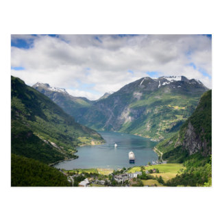 Postkarte des Geirangerfjord