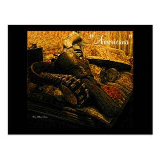 Postkarte des Gewehrs und des Pistolenhalfters