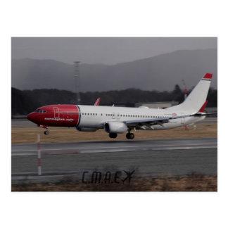 Postkarte des Norweger-737-800 CMAE