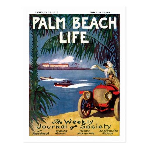 Postkarte des Palm Beach-Lebens #19