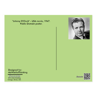 "Postkarte - Filmplakat ""Johnny-Uhr,"" 1947"