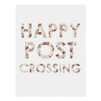 "Postkarte ""glückliche Postcrossing Rosen """