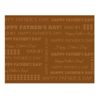 Postkarte - Happy Father's Day