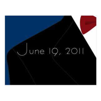 Postkarte Hochzeit Tuxedo Save the Date