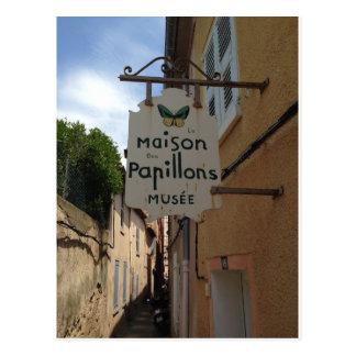 Postkarte La Maison DES Papillons Musee