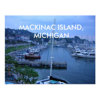 POSTKARTE MACKINAC INSEL-, MICHIGAN