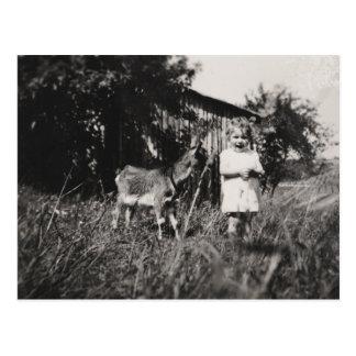 """Postkarte """"Mädchen mit Ziege """""""