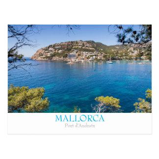 Postkarte Mallorca - Hafen-Andratx mit Text