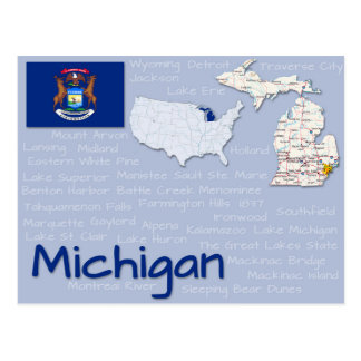 "Postkarte ""Michigan """
