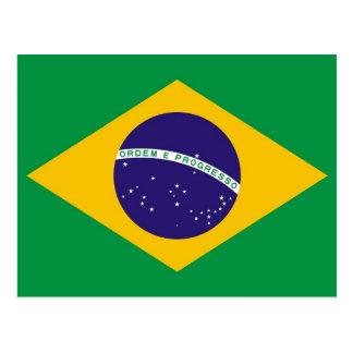 Postkarte mit Flagge von Brasilien