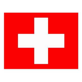 Postkarte mit Flagge von der Schweiz