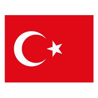 Postkarte mit Flagge von der Türkei