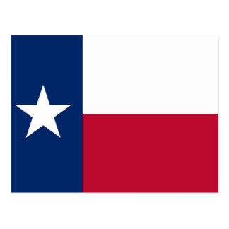 Postkarte mit Flagge von Texas-Staat - USA