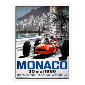 Postkarte mit Plakat Monacos Grandprix