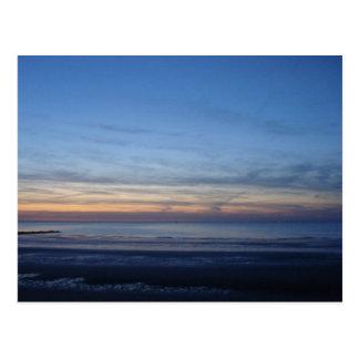 Postkarte Nordsee von der Sonne hinzulegen