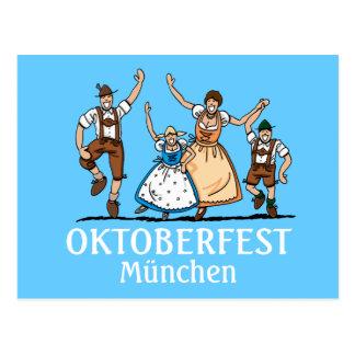 Postkarte Oktoberfest München glückliche bayerisch