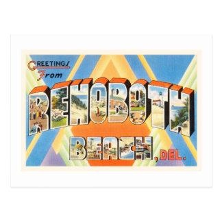Postkarte Rehoboth Strand-Delawares DE Vintage