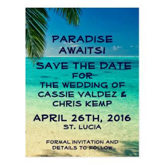 Postkarte St Lucia Save the Date