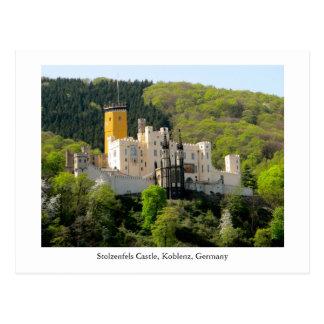 Postkarte Stolzenfels Schloss Schloss Deutschland