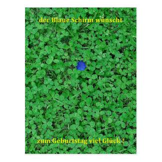Postkarte - Viel Glück