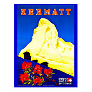 Postkarte-Vintage Reise-Zermatt Postkarte