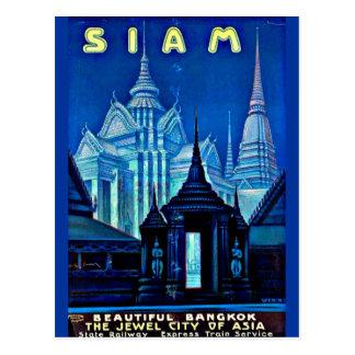 Postkarte-Vintager Reise-Siam Postkarte