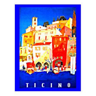 Postkarte-Vintages Reise-Tessin Postkarte