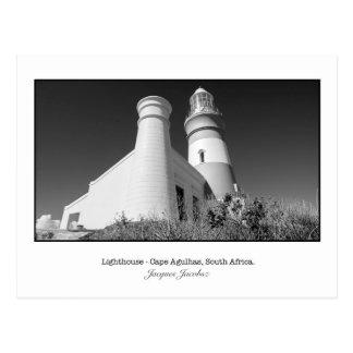 Postkarte von Kap Agulhas Leuchtturm
