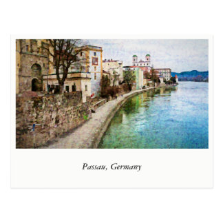 Postkarte von Passau, Deutschland