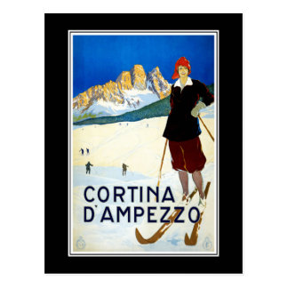 Postkarten-Cortina d'Ampezzo Italien Grüße Postkarte