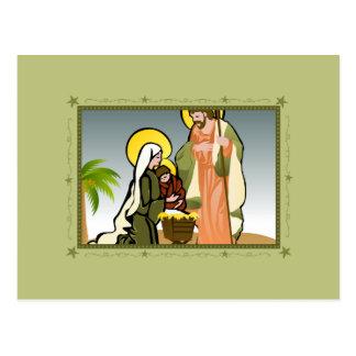 Postkarten der Geburt Christis-(Grün) |