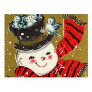 Postkarten des Schneemann-|