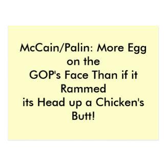 Postkarten, Ei auf Gesicht GOPS