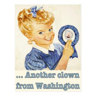 Postkarten-Grüße von einem politischen Clown Postkarte