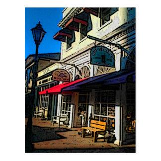 Postkarten-horizontale Schablone Postkarte