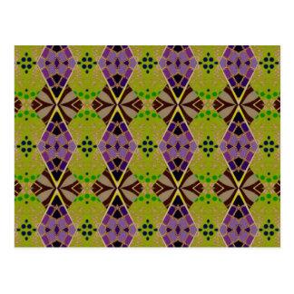 Postkarten mit Olive-Farbigem Muster