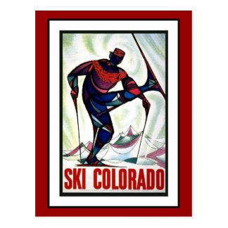 Postkarten-Ski-Colorado-Grüße Vintag Postkarte