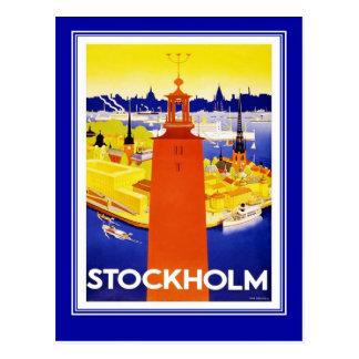 Postkarten-Vintage Reise Stockholm Postkarte