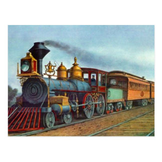 Postkarten-Vintage Zug-Eisenbahn-Bahnen sich Postkarte